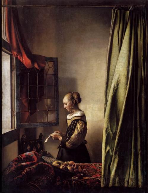 1657 Lady lisant une lettre