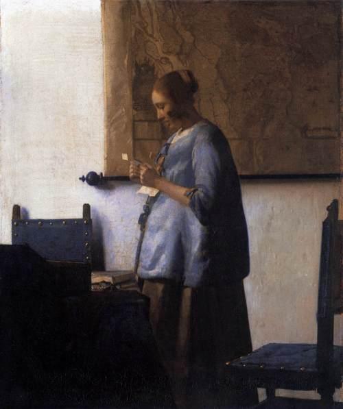 1663-1664 Femme en bleu lisant une lettre