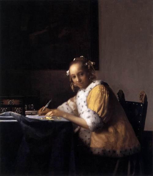 1665-166 Femme écrivant