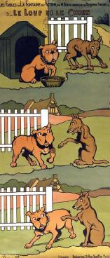 le loup et le chien rabier
